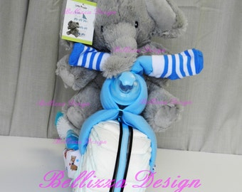 Motorcycle Diaper Cake-Baby Shower-Diaper-Gift-Mom-to-be-welcome baby- baby boy- baby girl-motocycle-bike-