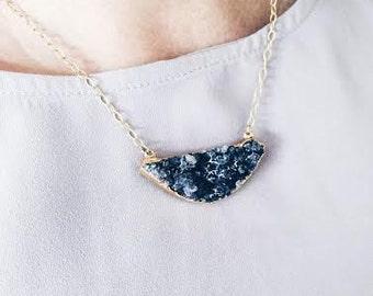 Amethyst gold filled necklace /14k