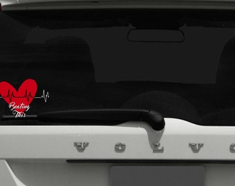 Heart Disease Decal / Heart Disease Support Decal / Heart Disease Awareness