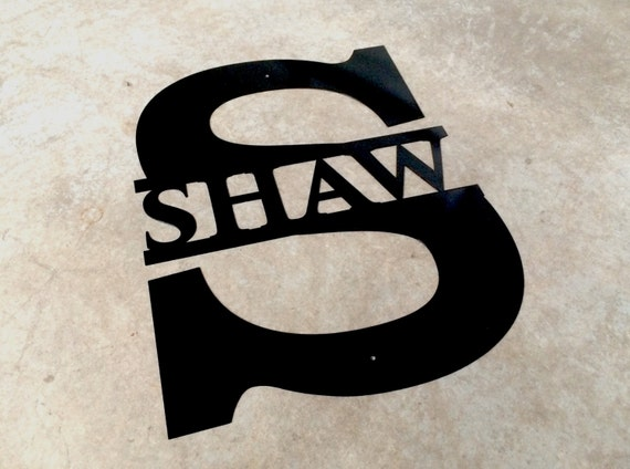 last name sign personalized metal wall art custom by. Black Bedroom Furniture Sets. Home Design Ideas