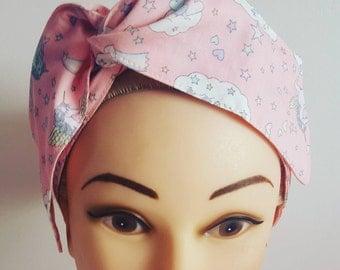 Pink Unicorn Pin Up Hair Tie