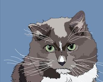 Personalised Pet Illustration - A4 Digital Illustration Print