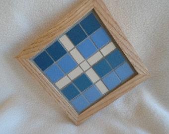 Handmade Oak Mosaic Coaster
