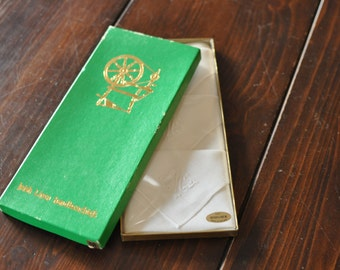 Vintage Irish Linen Handkerchiefs (new in box)