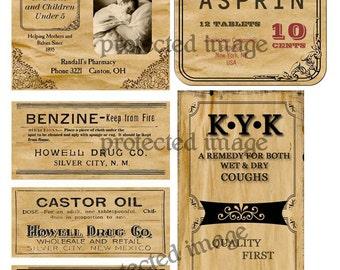 Primitive Medicine Cabinet Labels