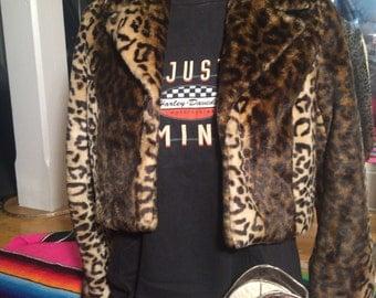 Vintage leopard jacket vegan
