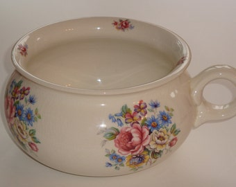 Arthur Wood Victorian Style Floral Chamber Pot