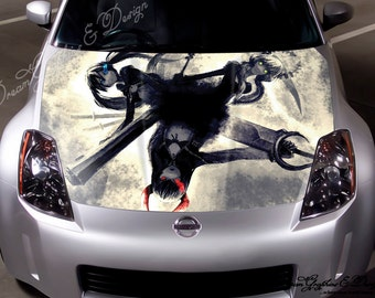 Manga Full Color Graphics Adhesive Vinyl Sticker Fit any Car Hood Bonnet 096