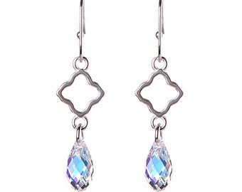Sterling Silver Quatrefoil Earrings