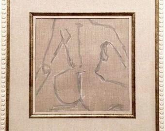 Pastel Figure on Linen