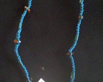 Turquoise hemp with butterfly