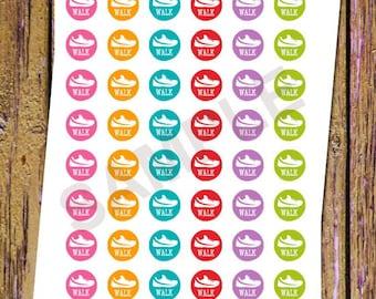 48 Walk Planner Stickers Hiking Stickers Functional Stickers Exercise Stickers Icon Planner Stickers Fitness Stickers Rainbow Stickers A38