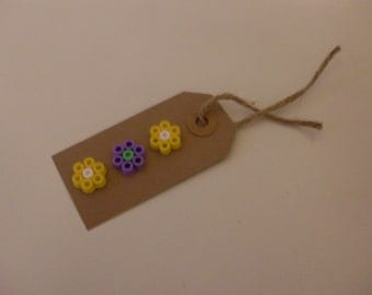 Hama Bead Flower Gift Tag