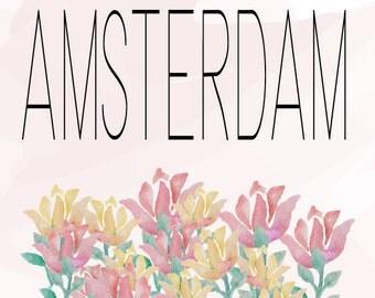 Amsterdam Tulip Print