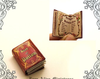 Book of Potion Dollhouse Miniature Book – 12th Scale OPENABLE & READABLE Miniature Book of Magic Potion - Printable Miniature Book DOWNLOAD