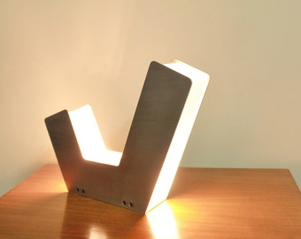 Table Lamp - Industrial Lighting - Desk Lamp - Metal Sculpture - Modern Art - Geometric Lamp - Minimalist Lighting - Contemporary Bedside