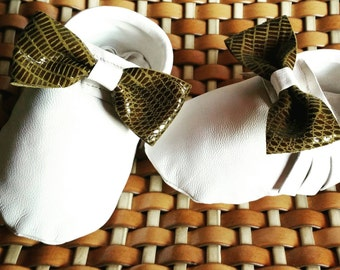 Baby moccasins-handmade genuine leather ribbons-handmade in Italy-moccasins-mocassin-footwear kids-shoes
