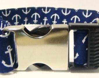 Navy Blue Anchor Collar