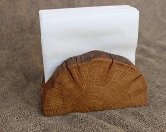Wooden Napkin Holder, Natural Branch Napkin Holder, Rustic Paper Napkin Holder, Desk Napkin Holder,Picnic Holder,Old Rustic Primitive Design