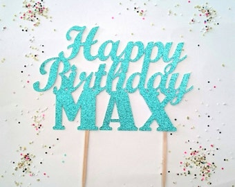Happy birthday cake topper,Custom cake topper, cake topper,Happy birthday, Birthday cake topper, customized cake topper, party decorations