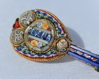 Old Venice Micro Mosaic Brooch