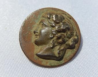 Old Woman Button Greek Mythology Diameter: 1.9 cm