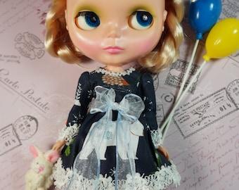 OOAK Blythe Doll Dress Set by Lady Alice - Shimmering Snow