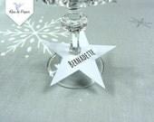 Batch seats trademarks blank white stars / stars name tag