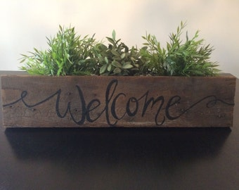 "Reclaimed Wood ""Welcome"" Sign"