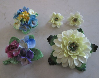 Brooch Earrings Cara Crown  China Staffordshire Made in England