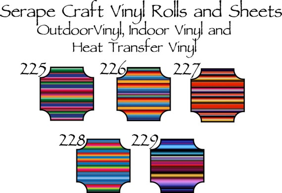 Beautiful, Vibrant Patterned Craft Vinyl and Heat Transfer Patterns 225-229