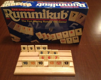 Set of 4) Handcrafted Rummikub Tile Holder Rack (Set of 4)