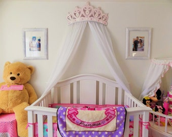 Crib Canopy, Bed Crown Pink Princess Wall Decor
