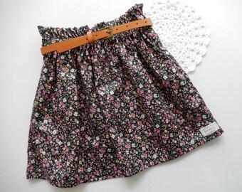 Girls Size 3 Paper bag Skirt, High waisted Skirt, Paperbag, Floral Skirt