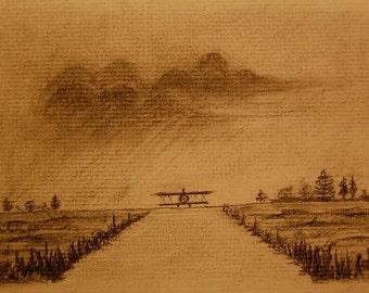 Biplane Series II - Art Print 4x6