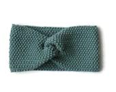 Fine Merino 100% natural for woman or green child of water 10cm wool headband turban