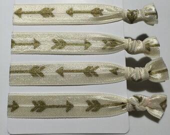 Arrow Hair Ties - golden (set of 4)