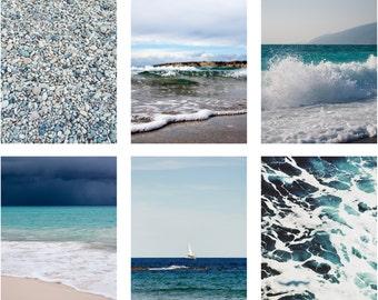 Sea Photos - Sea Photo Set - Vertical Photo - Set of 6 Photos - Digital Photo Set - Set of Six - Digital Photo - Digital Download - Sale