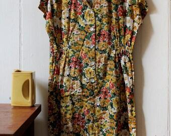 Vintage 80's floral garden dress - Medium-Large