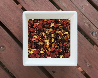 Paradise - Berry Tea, Loose Leaf Tea, Organic Herbal Tea, Yerba Mate, Hibiscus, Raspberry, Orange Peel, Gluten Free Tea, Vegan Tea, Organic