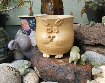 Handmade ceramic flower pot!