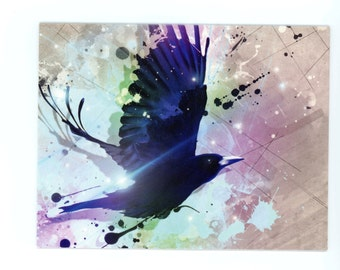 Wandering Ravens Collection: Abstract Raven Note Cards