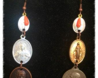Italian rosary earrings