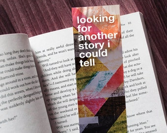 Bookmark - Andrew McMahon Halls Lyrics Inspired - Free Shipping - Proceeds to Dear Jack Foundation - Jack's Mannequin Something Corporate