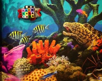 Handmade fish brooch
