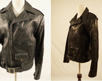 SALE 1950's Mens Leather  Motorcycle Jacket,Horsehide