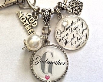 GODMOTHER Gift, My Aunt My Godmother, Will You Be My Godmother, Godmothers Are a Blessing Thank You For Being Mine, Godmother Keychain