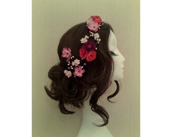 Fruits of the Forest Floral Flower Headdress Headband Hairpiece