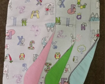 Burp cloth - alphabet print