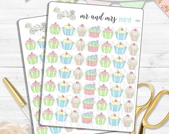 Cupcakes planner stickers cupcakes stickers cupcake time stickers sweets stickers sweets planner stickers planner stickers  035